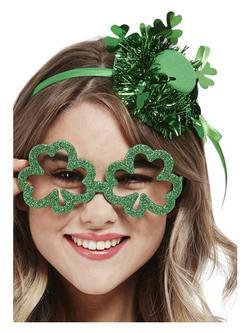 Zöld Szent Patrik Napi Lóhere Alakú Szemüveg
