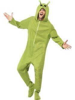 Zöld Űrlény Férfi Jelmez