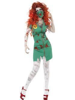 Zöld Zombi Műtősnő Női Jelmez