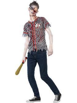 Zombi Baseball Játékos Férfi Jelmez