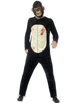 Zombi Csimpánz Férfi Jelmez