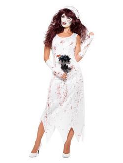 Zombi Menyasszony Női Jelmez